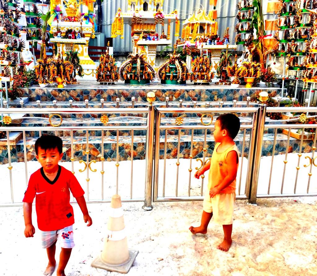 Thailändische Kinder Ko Samui