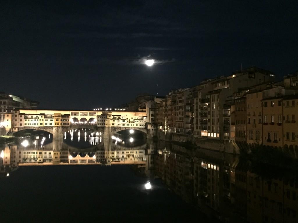Florenz bei Nacht Ponto Vecchio